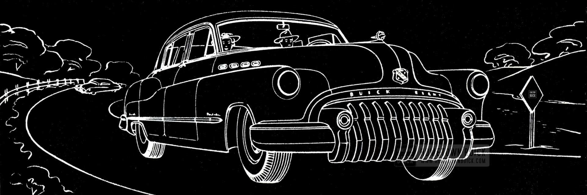 1950 Buick Black and White