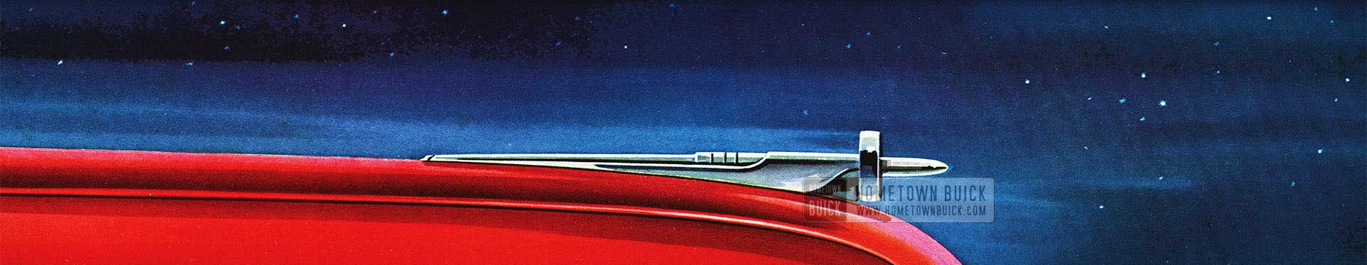 1951 Buick Hood with Hood Ornament