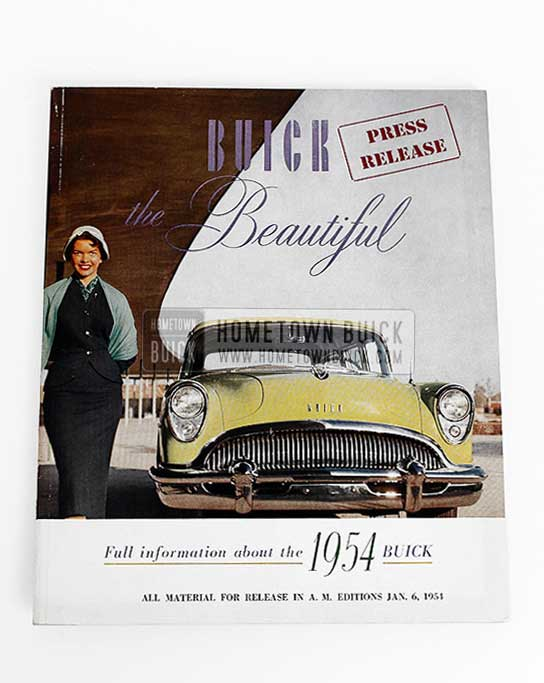 1954 Buick Press Release Kit