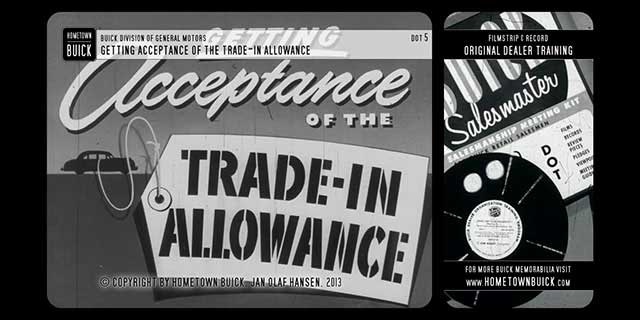 1952 Buick - Getting Acceptance of the Trade-In Allowance