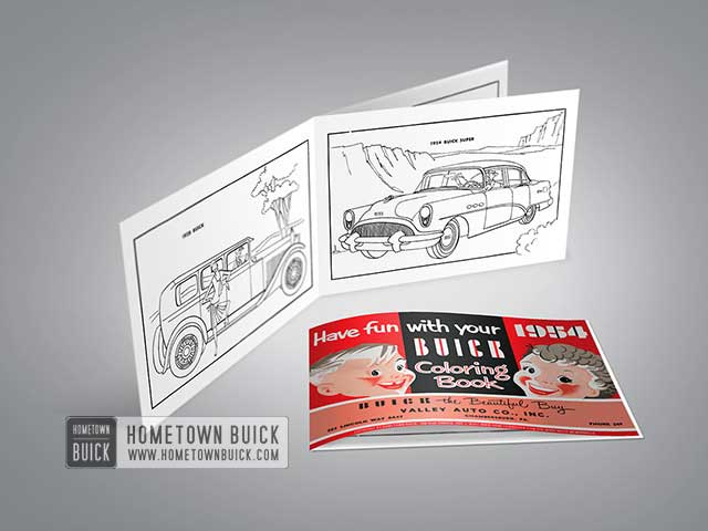 1954 Buick Coloring Book 01