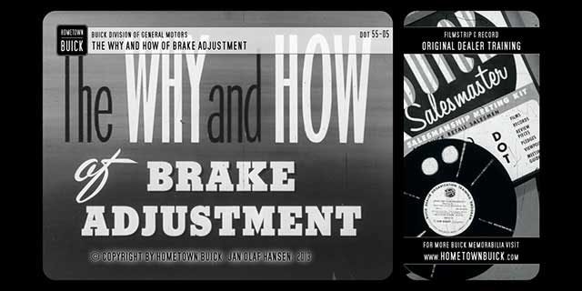 1955 Buick - The Why and How of Brake Adjustment