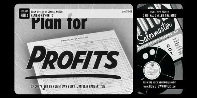 1956 Buick - Plan for Profits