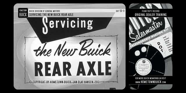 1956 Buick - Servicing the New Buick Rear Axle