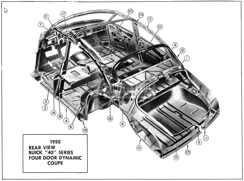 1950 buick basic metal construction