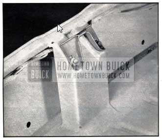 1950 Buick Adjustable Rear Compartment Lid Lock Striker