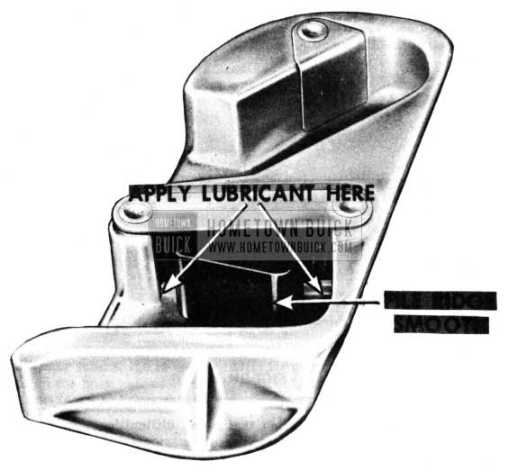 1950 Buick Door Lock Striker Lubricare