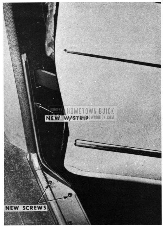 1950 Buick Door Opening Weatherstrip
