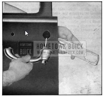 1950 Buick Door Outside Handle Removal