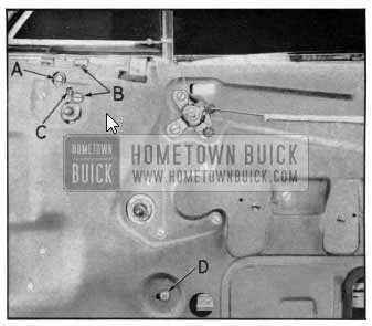 1950 Buick Door Ventilator Regulator