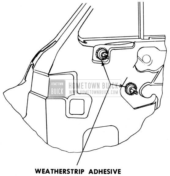 1950 Buick Door Weatherstrip Adhesive