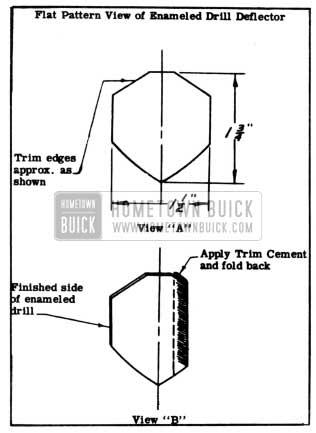 1950 Buick Enamelled Drill Deflector