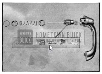 1950 Buick Exploded View - Door Outside Handle