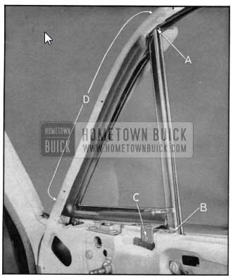1950 Buick Front Door Window Ventilator