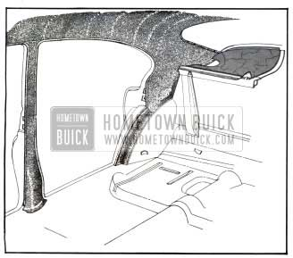 1950 Buick Installation of Headlining at Rear Quarter Section