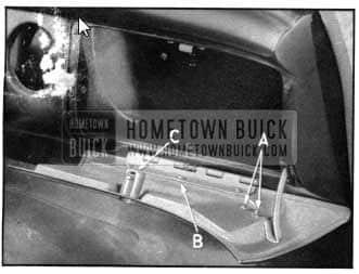 1950 Buick Instrument Panel Compartment Door