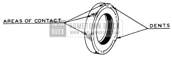 1950 Buick Rear Axle Pinion Bearing Seal Areas of Contact