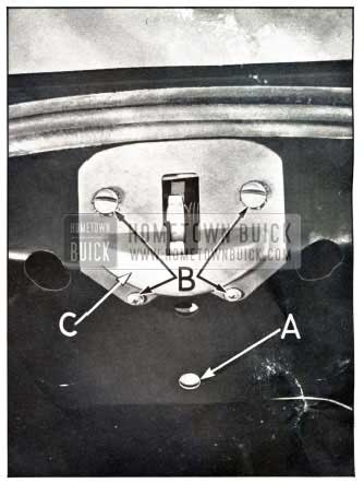 1950 Buick Rear Compartment Lid Lock