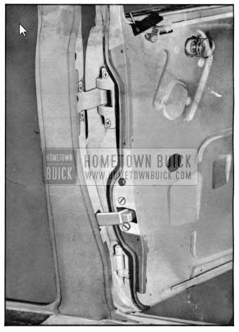 1950 Buick Rear Door and Hinge Installation