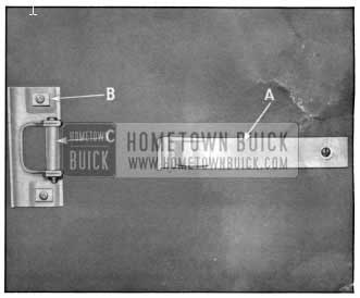 1950 Buick Rear Door Check Assembly