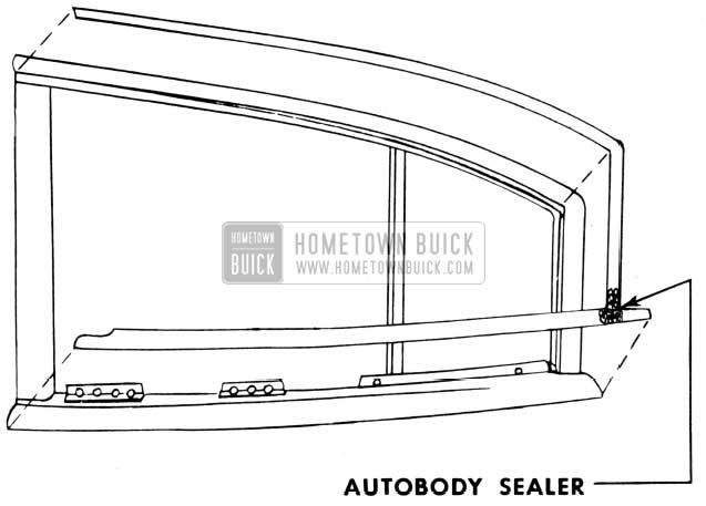 1950 Buick Rear Door Reveal Molding Autobody Sealer