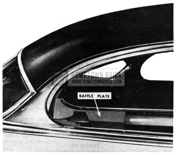 1950 Buick Riviera Rear Quarter Baffle Plate