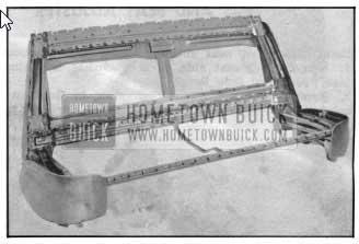 1950 Buick Sedan Front Seat Metal Frame