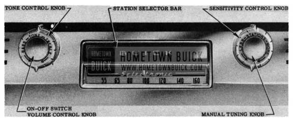 1950 Buick Radio Controls (Selectronic Radio)