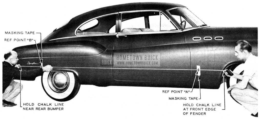 1950 Buick Body with Side Mouldings
