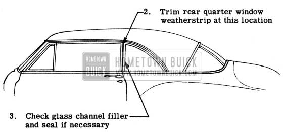 1950 Buick Trim Rear Quarter Window Weatherstrip