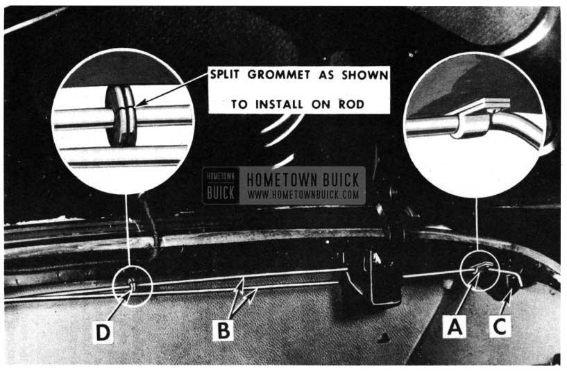 1950 Buick Trunk Lid Torque Bars-Rivieras