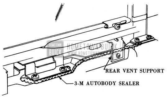 1950 Buick Weathersealing in Door Areas