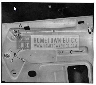 1950 Buick Window Regulator Mechanism