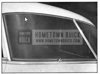 1950 Buick Windshield Glass and Glass Channel