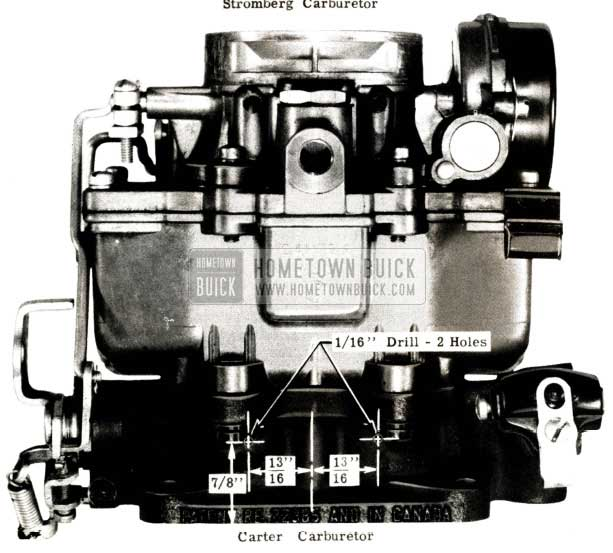 1951 Buick Carter Carburetor