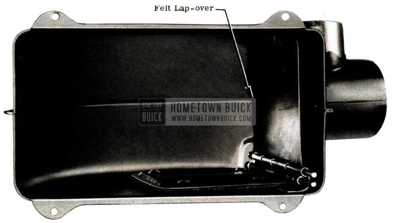 1951 Buick Defroster Valve Felt Lap-Over