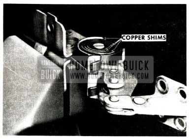 1951 Buick Door Link Copper Shims
