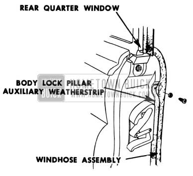 1951 Buick Door Lock Pillar Weatherstrip