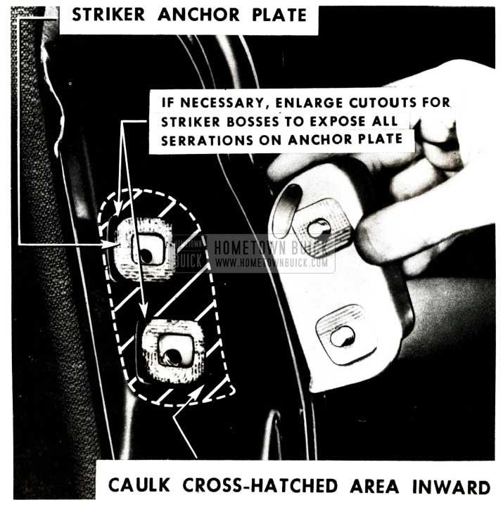 1951 Buick Door Lock Striker Anchor Plate