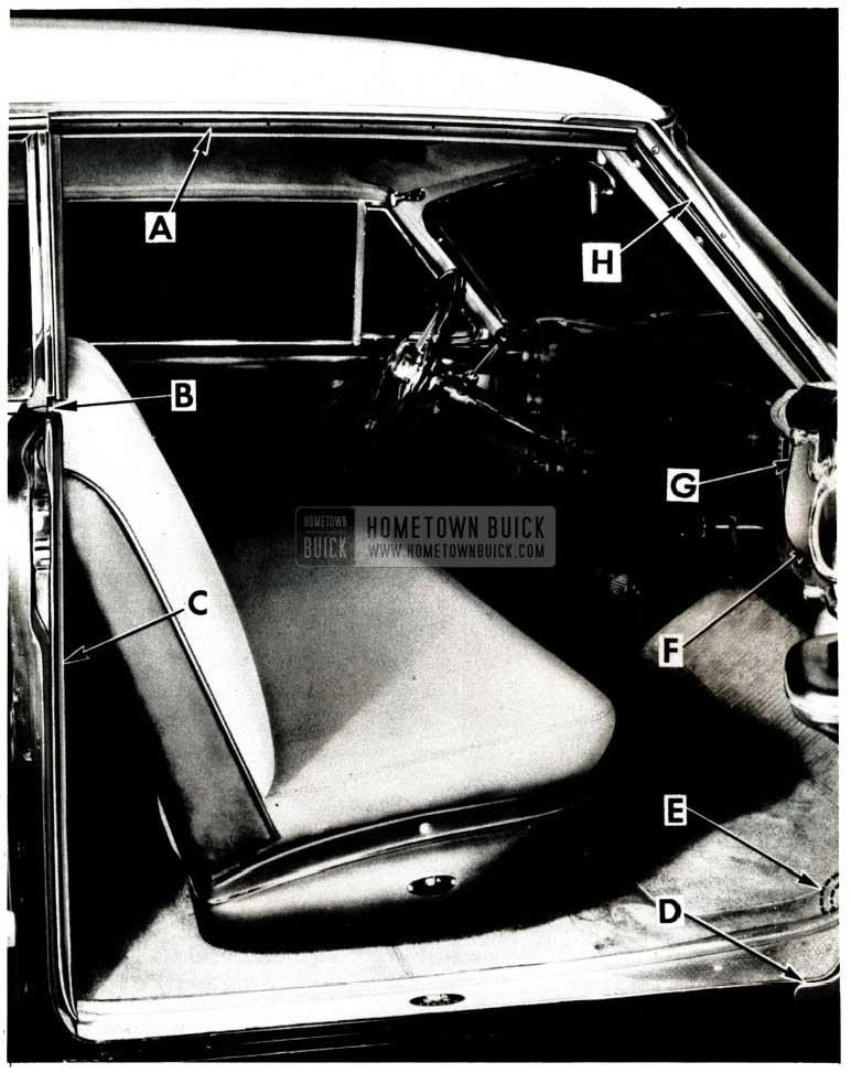 1951 Buick Door Weathersealing Operation
