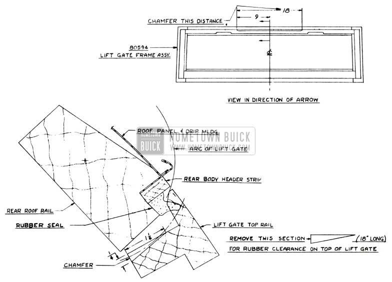 1951 Buick Estate Wagon Lift Gate Waterleak Repair