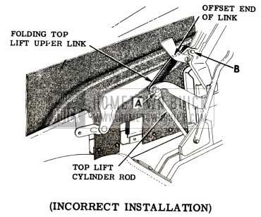 1951 Buick Folding Top Lift Link