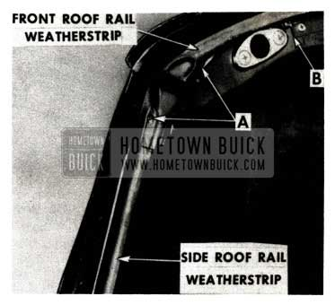 1951 Buick Front and Side Roof Rail Weatherstrip