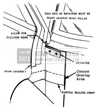 1951 Buick Front Body Hinge Pillar Partial Sealing Strip