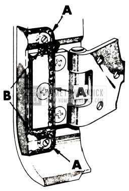 1951 Buick Front Body Hinge Pillar Plates Autobody Sealer
