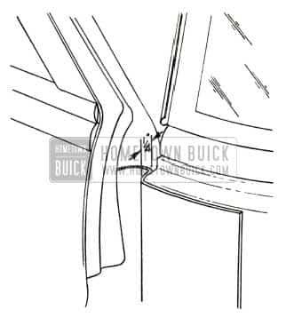 1951 Buick Front Body Hinge Pillar Sealing Strip Installation