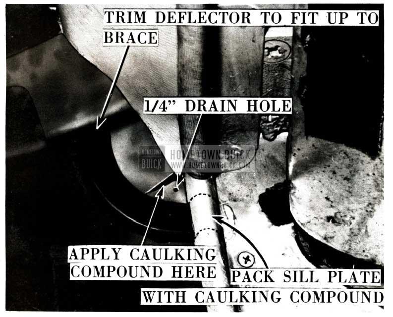 1951 Buick Front Body Hinge Pillar Water Deflector