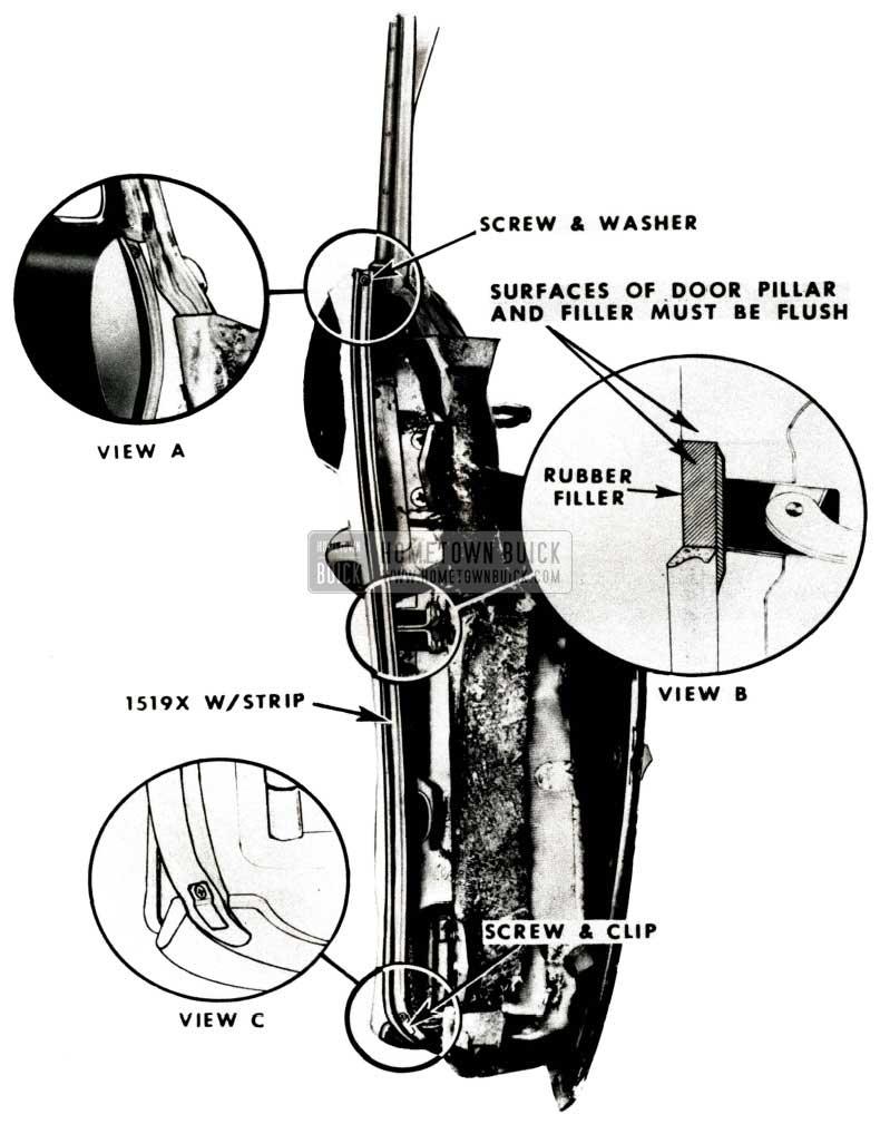 1951 Buick Front Body Hinge Pillar