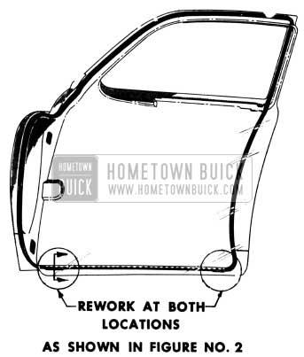 1951 Buick Front Door Weatherstrip Illustration