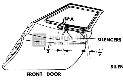 1951 Buick Front Door Window Regulator Rattles - Model 72R